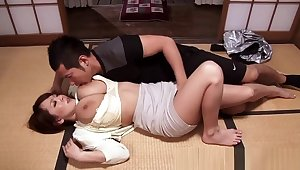 Bigtitted asian mama cocksuck increased by titfuck