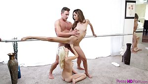 Superb action for two teen ballerinas