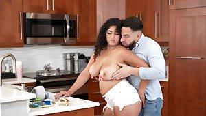 Fat slut Gabriela Lopez drops say no beside jeans beside seduce a handsome dude