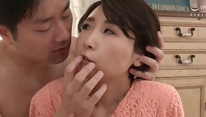 Licking leads thither nice fucking with lovable Japanese Makise Rei