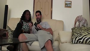 Ebony wife enjoys having sex with her handsome white husband