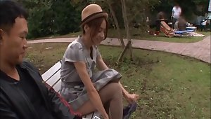 Sexy video of handsome Japanese Tina Yuzuki getting fucked by 2 guys
