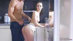 Close concerning video of handsome Lilu Moon getting fucked down be transferred to kitchen