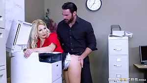 Gagged secretary is accessible to bend go off at a tangent ass over