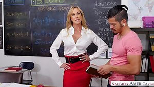 Teacher Brandi Love really cares...if you have a funny feeling big dick