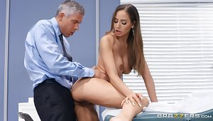 Piercing sexual connection video featuring Mick Blue plus Desiree Dulce
