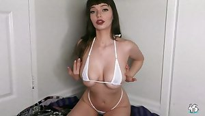 Good-looking breasty Jessica Starling on real homemade porn video