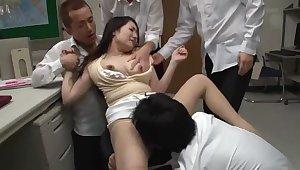 Seducing oriental MILF Ai Matsuyama featuring beautiful fingering sex video in office